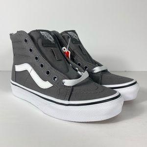 Vans Sk8-Hi Zip Pop Check Pewter Sneakers